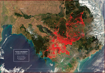 US bombing sites in Cambodia